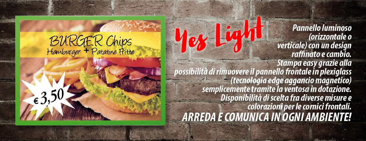 YES LIGHT - Pannello luminoso led