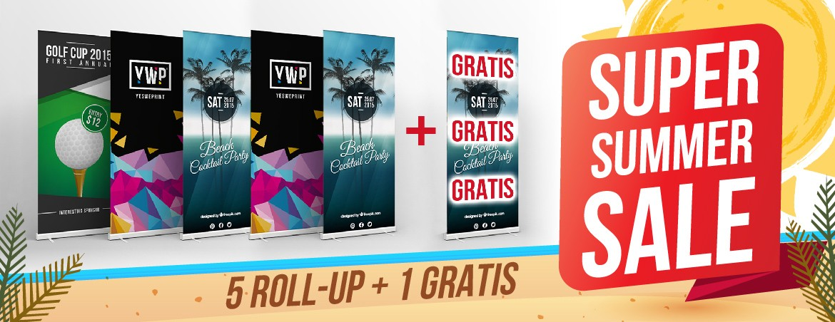 Summer sale - Kit 5+1 rollup